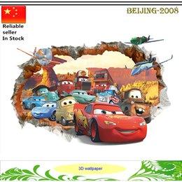 Pixar автомобили 3D стикеры стены малыша спальни DIY 3D мультфильм обои домой деколи питомник дети игровая комната окна наклейки 010260