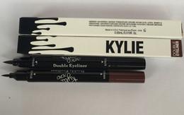 Wholesale kylie double eyeliner Makeup Black and brown Waterproof Eyeliner Liquid Eyeliner Pen Pencil Cosmetic Long LASTING Eyeliner LJJK515