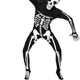 Oro Manos Hombres Halloween Skeleton Ghost trajes de una sola pieza Leotard Dress Up Parte trajes de Cosplay Elástico Tight una pieza de ropa