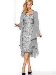 Wholesale 2015 Hot Sale Lace Chiffon Mother of The Bride Dress Formal Gown with Jacket Plus Size Mother s Dresses
