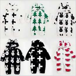 Wholesale Kids INS Jumpsuits Flannel Jumpsuits Ins Baby One Piece Romper Ins Onesies Fashion Bodysuit INS Jumpers Clothes Pajamas Hoodies Coat A860