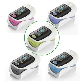 Wholesale OLED Fingertip Pulse Oximeter alarm Spo2 Blood Monitor directions modes colors available blue grey pink purple green English Spanish