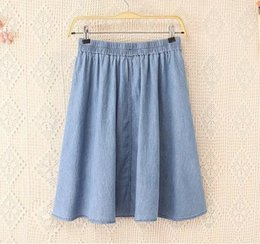 Discount Ladies Denim Skirts Plus Size | 2017 Ladies Denim Skirts ...