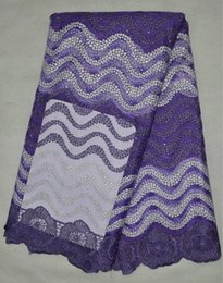 Wholesale Newest Screen Cloth LACE FBRIC yards with high quality and good price has colors for clothing dress purple coloe