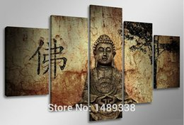 Hot Sell Free Shipping Wall Art Buddha Painting On Canvas Abstract Print Pictures Home Decor With Framed Ready To Hung