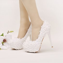 Discount White High Heels Graduation Shoes | 2017 White High Heels ...