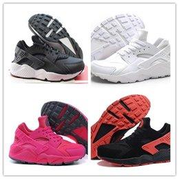 2016 Бесплатная доставка оригинального huaraches высокого качества тройной черный huarache мужчин и женщин обувь для онлайн SALE размер 40-45