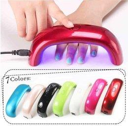 Wholesale Free DHL Nail Dryers W LED Mini Portable Curing Lamp Rainbow Shaped Machine for UV Gel Nail Polish Nail Art Tools Mini Nail Dryer