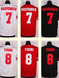 Men's San Francisco 49ers 8 Steve Young Elite White Jersey