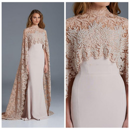 Wholesale 2017 Lace Wrap Sonam Kapoor Mermaid Evening Dresses Beaded Elegant Arabic Paolo Sebastian Prom Party Celebrity Gowns Vestidos De Soiree