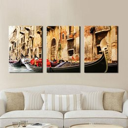 3 Panel Wall Art Painting On Canvas Oil Painting Famous Painting Collection For Living Room Venice Scenery Picture Print Home Decorations