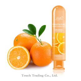 Wholesale Orange water based lubricant vagina anal sex lube gay lubricante lube adult oil oral sex toys sexual massage oil products hot