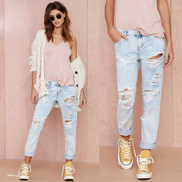 Discount Blue Wash Boyfriend Jeans | 2017 Blue Wash Boyfriend