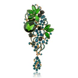 online shopping Six colors luxury vintage crystal High end brooches new Cheap elegant beautiful brooch pins for women Fashion jewelry