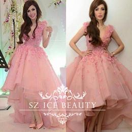 Discount Short Pink Fluffy Prom Dresses - 2017 Short Pink Fluffy ...