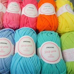 Wholesale 10pcs m DIY Knitting for Rugs Woven Thread Cotton Cloth Yarn Creative Hand Crocheted Basket Rug Blanket Hat Elastic Crochet Cloth Tape