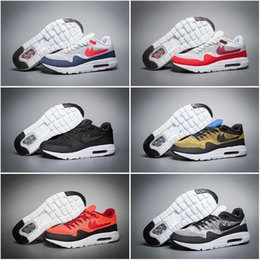 2016 Shoes Run Air Max 6Color Drop Shipping Cheap Famous Air 87 Ultra Men Running Shoes Max 1 Sneaker Trainers size 7-10