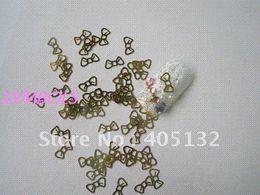 Wholesale MS Gold Cute Bow Nail Art Metal Sticker Nail Art Decoration Fancy Outlooking sticker decor