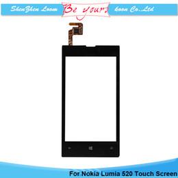OEM panneau avant digitizer écran tactile pour Nokia Lumia 520 N520 LCD écran tactile remplacement pièces de rechange Livraison gratuite