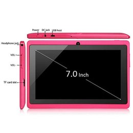 7 inch 512MB 4GB A33 Quad Core Tablet Allwinner Android 4.4 KitKat Capacitive 1.5GHz WIFI Dual Camera Cheapest bluetooth Q88 1-7PB from tablet pc quad core cheapest manufacturers