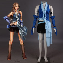 Latest Japanese Psp Game Final Fantasy X Yuna Cosplay Costume Carnaval Halloween Costumes For Women Party Dress Custom With Ffx Wedding