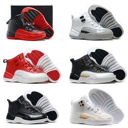 Wholesale Enfants Retro Barons s Néoprène Noir Nylon Basket ball Chaussures Enfants Garçons Filles Blanc OVO s Ailes Sports Sneakers Cadeau d anniversaire