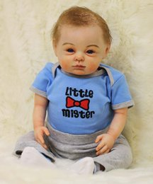 Wholesale 22 quot silicone reborn dolls real newborn baby looking touch handmade exquisite high quality brand doll children lover gift