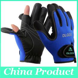 Gants de pêche DLGDX de haute qualité Anti Slip Sports de plein air Slip-résistant Cyclisme Gants de moto de vélo Gants pliantes doigts