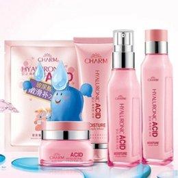 Wholesale Certified CHARM Hyaluronic Acid Face Skin Care Set pc Moisturizing Cream Liquid Essence Face Skin Whitening Anti Aging