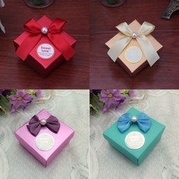 Wholesale New Colors Available Paper Sweet Love Wedding Candy Box Party Favor Chocolate Boxes