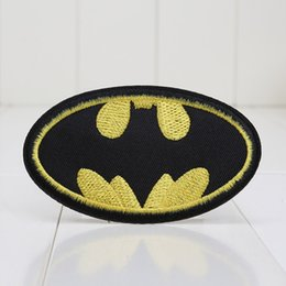 Wholesale 10 Pieces Cartoon DC Comic Movie Batman Super Hero Sign Embroidered Iron On Applique Patch Toys