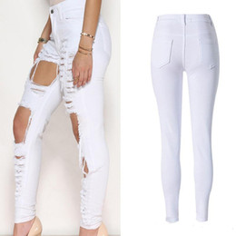 Black High Waisted Ripped Jeans Online | Black High Waisted Ripped