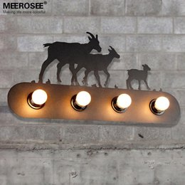 novelty iron wall sconce light fixture art deco pastoralism wall lamp bracket for home decoration bedroom cafe free shipping cheap contemporary lighting cheap contemporary lighting