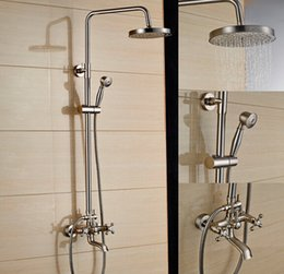 Brushed Nickel Tub Shower Faucet Set american standard shower and