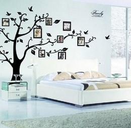 Discount Flying Bird Decorations Family Photo Frame Flying Birds Tree Wall Stickers Arts Home Decorations Living