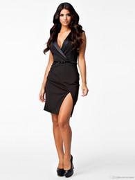 Deep v summer dress black