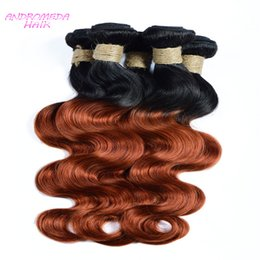2017 ombre human hair wave 7A Hair Extension Kits Cheap Chinese Malaysian India Peruvian Braziian Human Hair Ombre Two Tone Body Wave 3 Or 4 Bundles