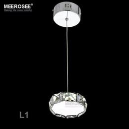 1 Light LED Crystal Chandelier Small Suspension Lamp LED Lustre Light Pure  K9 Crystal Light for Porch Aisle Price