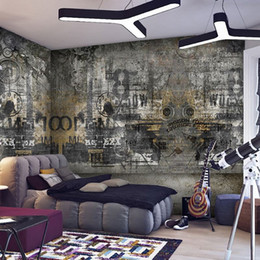 custom any size european style street graffiti art personality bedroom living room ktv retro 3d large mural wallpaper home decor