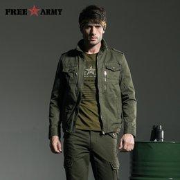 Wholesale Escudo del Ejército Chaqueta militar de los hombres del estilo europeo de la cremallera de metal para hombre de las chaquetas militares de algodón caliente tamaño Otoño Plus MS A