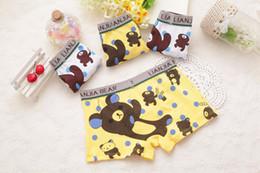 2017 underwear sell Hot selling cotton children's Bear print designer short panties kids boys underwear boxers ZA0226 underwear sell on sale