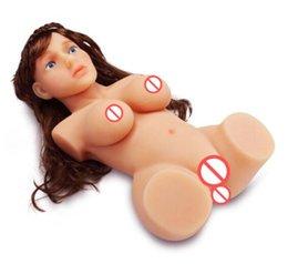 Wholesale Realista tamanho completo silicone anal oral e boneca sexual da vagina para os homens da vida real gay bonecas sexuais masculinos boneca do amor silicone torso sexo