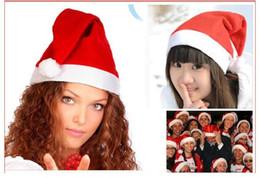 Высокие шляпы Качество 1000шт Новогоднее украшение Высокосортный Рождество шляпу / Санта-Клауса Симпатичные взрослых Рождество Косплей шапки Бесплатная доставка