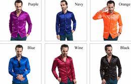 Wholesale New Arrival Custom Any Color Silk Like Satin Elastic Men Wear Shirts Groom Groom Wedding Slik Shirt For Men