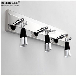 9 Watt Led Mirror Wall Sconces Light Contemporary Led Restroom Lamp Chrome Metal Wall Light Fixture For Bathroom Led Wall Lustre Metal Wall Art For