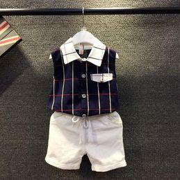 Wholesale 2016 Cool Summer Children Sets Baby Boys Suits Short T shirt Short Pants Kids Clothing Sets Boys Short Sleeve