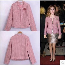 Discount Pink Tweed Coat | 2017 Pink Tweed Coat on Sale at DHgate.com