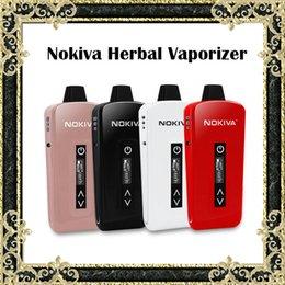 Wholesale Nouveaux Kit Herbal Vaporizer Airis Nokiva céramique Donut E Kits de cigarette avec écran tactile Contrôle de la température mAh Batterie Fasion Ecigs
