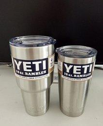 30 oz YETI Tumbler Rambler Cups refrigerador Yeti Rambler Tumbler aço inoxidável 304 de 30 onças canecas Grande Capacidade aço inoxidável do curso Caneca 900ml