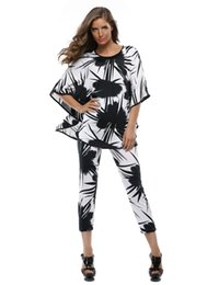 Wholesale Piece Set Women Dress Pant And Top Summer Clothing Casual Pants Suits For Women Batwing Sleeve Tops Women s Sets